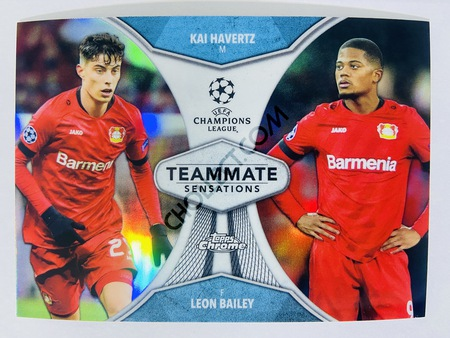 Kai Havertz / Leon Bailey - Bayer 04 Leverkusen 2020 Topps Chrome UCL Teammate Sensations #TS-HB